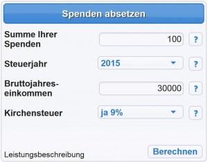 Leonahrd Spenden Steuerrechner